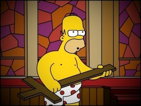 Homer Simpson blasphemous